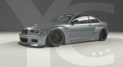 1998-2005 BMW E46 M3 Coupe GReddy Pandem Rocket Bunny RB Style Wide Body Kit including Front Lip, Fender Flare Kit & Rear Wing
