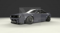 1995-1998 Nissan S14 Zenki S14A Kouki Pandem BOSS Rocket Bunny RB V2 Style Wide Body Kit including Bonnet, Bumper,  Fender Flare , Diffuser & Wing