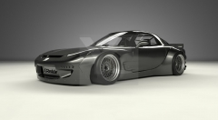 1992-1997 Mazda RX7 FD3S GReddy Pandem Rocket Bunny RB V2 Style Wide Body Kit including Front Bumper, Lip, Fender Flare Kit, Rear Diffuser & Rear Wing