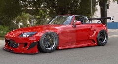 2000-2009 Honda S2000 AP1 AP2 GReddy Pandem Rocket Bunny RB Style Wide Body Kit including Front Bumper, Fender Flare Kit, Rear Diffuser & Wing