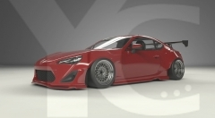2012-2016 GT86 FT86 ZN6 FRS BRZ ZC6 GReddy Pandem Rocket Bunny RB V1 Style Wide Body Kit incl. Front Lip, Fender Flare, Side Skirts, Rear Lip & Wing