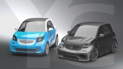 2015-2017 Smart Fortwo C453 AMG Style Body Kit including Front Bumper, Side Skirt , Rear Bumper & Muffler Tips, Roof Wing