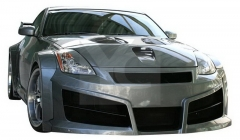 2002-2008 Nissan 350Z Z33 IbherDesign HAVOC Wide Style Body Kit including Front Bumper, Fender Flare Kit, Side Skirts, Rear Bumper