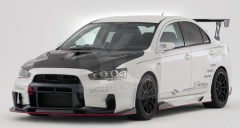 2008-2012 Mitsubishi Lancer Evolution EVO X VS '17 Ver. Ultimate Style Body Kit including Front Bumper w/ Lip, Front Fender, Side Skirts, Rear Bumper