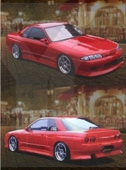 1989-1994 Nissan Skyline R32 2D 4D GTS VTX Style Body Kit including Front Bumper , Side Skirt , Rear Bumper Cover
