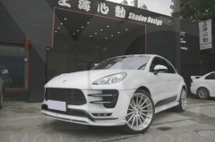 2014-2018 Porsche Macan Turbo AS Black Label Style Body Lip Kit including Front Lip, Side Skirt, Rear Diffuser, Rear Caps
