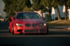 2007-2013 BMW E92 M3 LB Performance Style Body Kit including Front Diffuser , Whole Fender Flare , Rear Spat , Trunk Wing