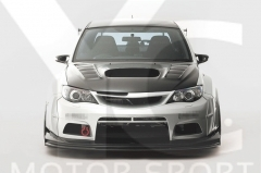 2008-2014 Subaru Impreza GVB GRB STI VS Wide Body Ver. Style Body Kit including Front Bumper , Side Skirt , Whole Fender Kit