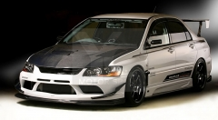 2004-2007 Mitsubishi Lancer Evolution 8-9 VS 09' Ver Style Body Kit including Front Bumper w/ Lip & Diffuser , Canard , Oil Cooler Guide , Side Skirt